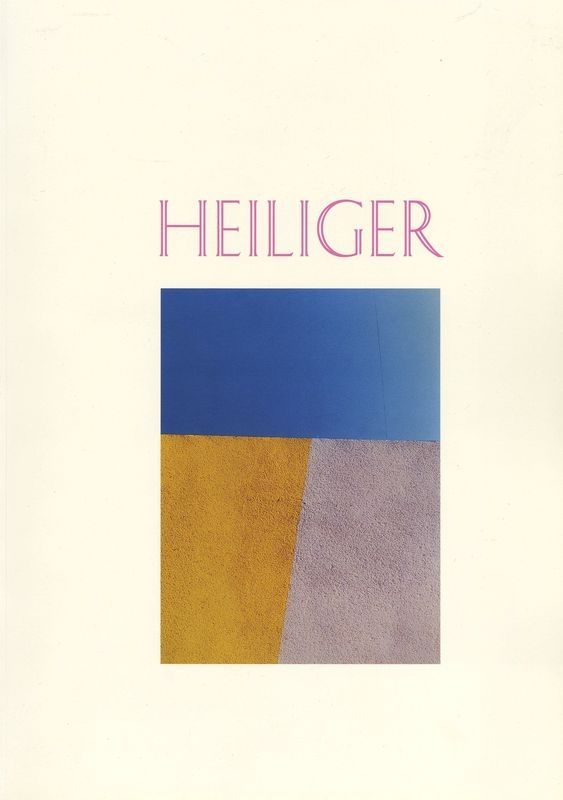 Wilhelm Heiliger. Konkretna fotografija 1985 - 2000